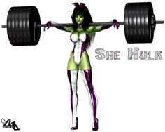 She-Hulk commission for . Second angle used in the scene. Check out angle 1 here: Nude versions yonder: