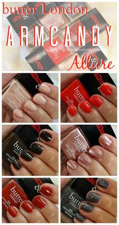 butter London Allure Arm Candy Nail Polish // Swatches, Review + Giveaway!