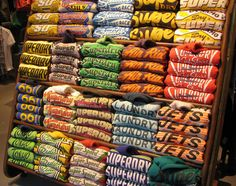 Stack of hoodies, Rotterdam, Superdry