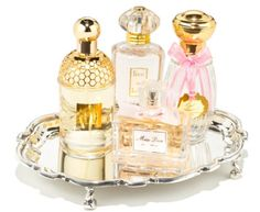 Now you can display your pretty perfume bottles and organize them at the same time. #perfume #silver #decor