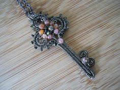 Victorian Key Wire Wrapped Assorted Gemstones in by OurFrontYard, $39.77