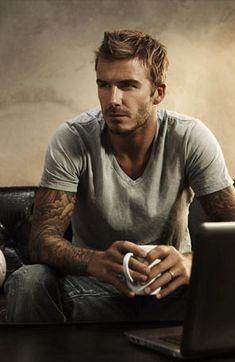David Beckham, love a man with tattoos!!