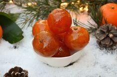 Clémentines confites - La p'tite cuisine de Pauline Chutney, Christmas Cake Designs, Tomate Mozzarella, Salsa, Dips, Kraut, Vegan, Crepes, Plum
