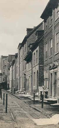 Elfreth's Alley, National Historic Landmark, Philadelphia, PA:  Opened in 1702-04, this is the oldest unchanged and continuously inhabited street in Philadelphia and an example of the survival of a part of colonial America's largest city.