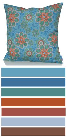 Heavenly cushion cover will bring the heaven down on earth right in your home! Its gentle blue and green color pattern with strong orange elements in floral design is simple but wonderful. http://www.sunburstoutdoorliving.com/collections/online/products/heavenly-cushion-cover-60cm