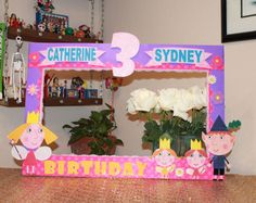 Ben & Holly Photo Frame Prop // Custom Photo Prop // Photo Booth Prop // Party Props // Birthday Props