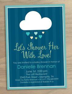 shower themed invitation