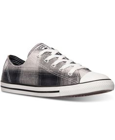 26e9d75cb118 Converse Women s Chuck Taylor Dainty Plaid Casual Sneakers from Finish Line  Shoes - Finish Line Athletic Sneakers - Macy s