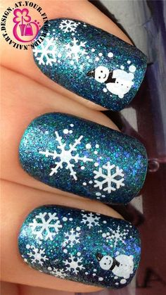 CHRISTMAS NAIL ART WATER DECALS TRANSFERS STICKERS SET SNOWFLAKES SNOWMAN #nails #nailart #nailartstickers