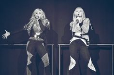 Destinee & Paris Monroe-Opening for Britany Spears on the Femme Fatale tour!