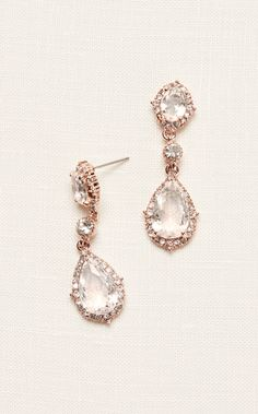 Filigree and Crystal Drop Earrings | Homecoming Accessories at David's Bridal