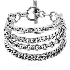Hermès Etcaetera Silver Bracelet ($2,000) ❤ liked on Polyvore featuring jewelry, bracelets, silver jewelry, silver bangles and silver jewellery