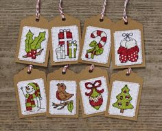 CrossStitcher's December issue 260 free festive tags stitch kit