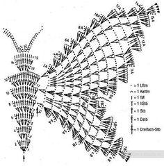 Как связать крючком бабочку - схемы