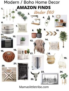 Affordable & Favorite Amazon Home Decor under $60It has been way to long since I have shared some o Boho Bedroom Decor, Boho Decor, Modern Bohemian Decor, Bedroom Ideas, Boho Bed Room, Modern Boho Master Bedroom, Modern Chic Decor, Chic Office Decor, Bohemian Patio