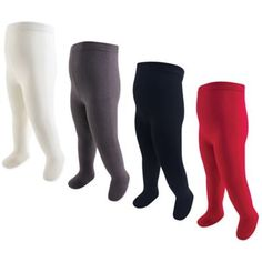 b757af439f4 Touched By Nature Size 18-24M 4-Pack Thick Organic Cotton Tights In Red