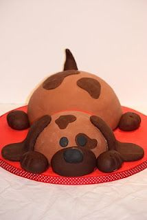 Whimsical by Design: Puppy Dog Birthday Cake