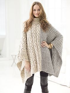 Ravelry: Chatsworth Cable Poncho pattern by Vladimir Teriokhin