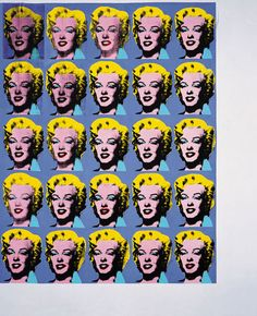 Twenty-Five Colored Marilyns 1962 Andy Warhol American, Acrylic on canvas 82 x 66 inches x cm) Modern Art Museum of Fort Worth Andy Warhol, Museum Of Modern Art, Art Museum, Marilyn Monroe, Pop Americano, Pop Art, Framed Artwork, Wall Art, Figurative Art