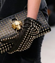Burberry Prorsum Fall 2012 - Studded Gloves & Clutch