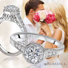This vintage engagement ring is lovely! Style 117574-100 MSRP $1,150 not including center stone
