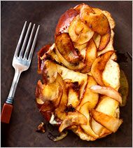 An Alternative for Latke Lovers - Apple-Gruyere French Toast With Red Onion