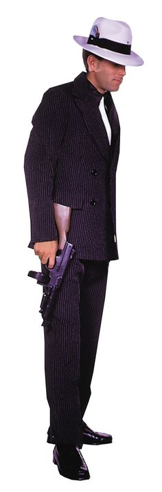 Gangster Suit Brown Sm