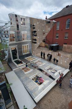 Leandro Erlich, Dalston House. Photo Gar Powell-Evans. Barbican Art Gallery 2013 #hackney #art #installation