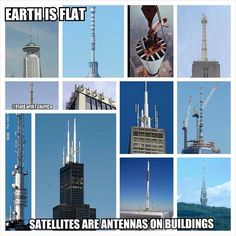 """I am not a  """"I know all about satellites"""" kind of person...  but you have to wonder...  Do they claim we have satellites in space to protect the true devices that are actually on land?  Flat Earth Fun"""