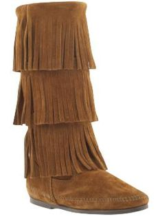 Minnetonka Moccasin: 3-Layer Fringe. I've always always always loved these and think it's about time I own them!
