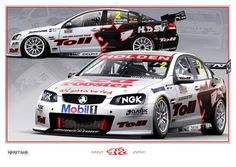 Peter Hughes uploaded this image to 'Heritage Prints'. See the album on Photobucket. Australian V8 Supercars, Holden Australia, Racing Team, Auto Racing, Car Prints, Aussie Muscle Cars, Automotive Art, Car Wrap, Hot Cars