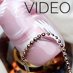 Nail Art Hacks, Nail Art Diy, Cool Nail Art, Nail Art Designs Videos, Nail Art Videos, Nail Designs, Stylish Nails, Trendy Nails, Cute Nails