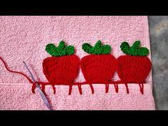 Crochet Edging Patterns, Crochet Borders, Baby Knitting Patterns, Crochet Stitches, Beginner Crochet Projects, Crochet For Beginners, Crochet Fruit, Crochet Lace, Chrochet