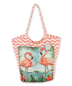 Another great find on #zulily! Kate McRostie Pink Flamingo Island Tote #zulilyfinds