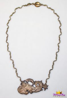 1-2. Distressed Cupid On Serpent Necklace Our new runway jewelry on ETSY: https://www.etsy.com/shop/TheKingsThings