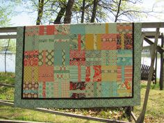 Layer Cake Quilt.... No tutorial but looks easy enough...
