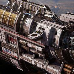 """USR """"Brawler"""" - Fractured Space, Hans Palm on ArtStation at https://www.artstation.com/artwork/usr-brawler-fractured-space"""