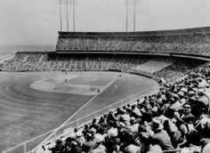 More than 42,000 baseball fans fill Candlestick Park in San Francisco opening day to watch the San Francisco Giants in this April 13, 1960
