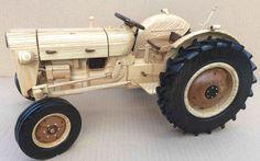 Fordson Super Dexta wooden model (third one)