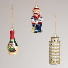 Italy Glass Ornaments (set of 3) from World Market ($14.99)