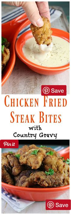 Chicken Fried Steak Bites with Country Gravy - Ingredients  Meat  2 lbs Cube steak  Refrigerated  1 Egg  Baking & Spices  2 tbsp Bacon grease   tsp Black pepper coarse ground  2  cups Flour  2 tsp Pepper coarse ground   tsp Salt  1  tbsp Seasoning salt  Oils & Vinegars  4 cups Vegetable oil  Dairy   cup Milk  3 cups Whole milk