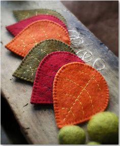 felt leafs                     http://www.charmingquark.de/