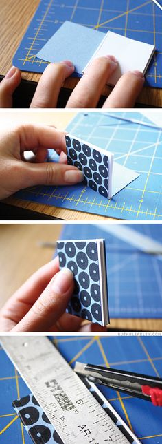 Gluing a tiny perfect bound book by Ruth Bleakley
