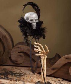 Glittered Skull Parade Stick – BRIARWOOD