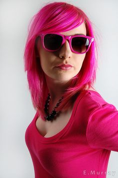 Neon pink hair #hair #bright #dyed