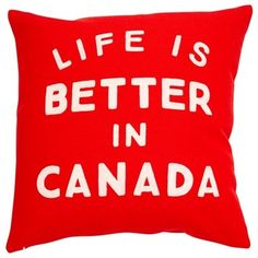 Expressions Better in Canada Pillow Cover - x by Indigo