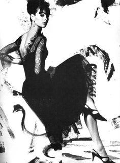 Vogue UK, April 1965  Photographer: David Bailey  Model: Jean Shrimpton  Dress by Susan Small