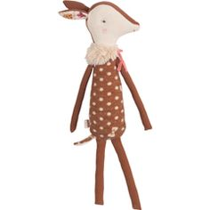 Bambi Deer Doll Rau for the Wee Generation by maileg Cute Baby Elephant, Cute Baby Animals, Softies, Baby Toys, Kids Toys, Little Doll, Soft Dolls, Handmade Toys, Kind Mode