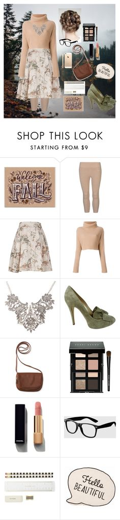 """""""Fall's comming"""" by mirkaparis ❤ liked on Polyvore featuring USA Pro, Melissa McCarthy Seven7, Casadei, Aéropostale, Bobbi Brown Cosmetics, Chanel, La Senza, Kate Spade and plus size clothing"""