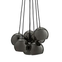 Ball Multi Pendant Black Chrome by Frandsen Lighting
